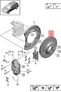 Genuine PORSCHE Cayenne 9YA Brake Disc Left 9Y0615601E