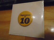 SEALED RARE UK PROMO Supergrass is 10 CD BEST OF Gaz Coombes W/ BUTTON 94-04 !