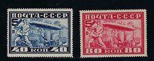 "1930 Russia Scott C12-C13 varieties; C12 (dot after ""0""); C13 (lightning rod) MH"