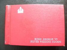 1948 Royal Silver Wedding complete set in album, MNH (GB to Zanzibar)