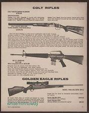 1980 COLT Sauer Grand Alaskan AR-15, GOLDEN EAGLE 7000 Big Bore Rifle AD w/specs