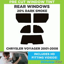 CHRYSLER VOYAGER 2001-2008 20% dunkel hinten Vorgeschnittene Scheibentönung