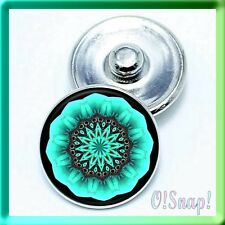 (Cart any 4, 2 w/be FREE!) NEON GREEN DESIGN Ginger Snap Button Charm