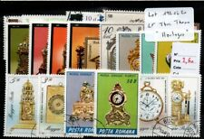 "Lot timbres thematique "" Horloges et pendules """