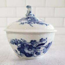 Vintage Royal Copenhagen Sugar Bowl with Lid Blue Flowers 10 / 1678