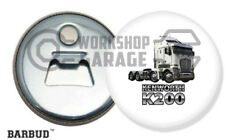 KENWORTH K200 TRUCK - WHITE / LOGO - Magnetic Bottle Opener - BARBUD