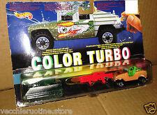 HOT WHEELS Colour turbo Jeep Renegade Tank TANK Tow Truck Tank MATTEL 1993