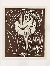 """1989 VINTAGE """"EXPOSITION 55 VALLAURIS"""" PICASSO Color offset Lithograph"""