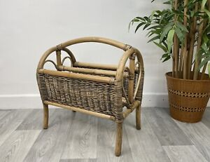 Bamboo Cane Magazine Newspaper Rack E44
