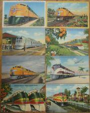 Railroad/Train/Locomotive 1940s Linen Postcards - SIXTEEN DIFFERENT