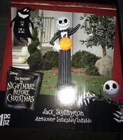 Airblown Inflatable Jack Skellington with Pumpkin Gemmy Halloween Yard Decor