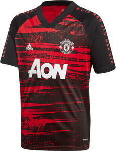 Adidas Men's Manchester United 2020/21 Pre Match Football Shirt FH8551 New M