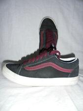 Chaussures baskets vans écossais noir violet pointure 36 37