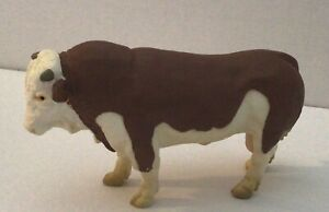 Schleich Germany 1995, brown and white, Fleckvieh bull figure
