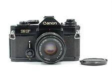 Canon EF 35mm SLR Film Camera Black w/FD 50mm f2 Excellent- Japan 348