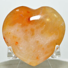 "2"" Carnelian Agate Heart Natural Crystal Polished Mineral Stone - Madagascar"