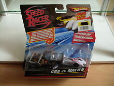 Hotwheels Speed Racer Set GRX + Mach 6 in Black/White on Blister