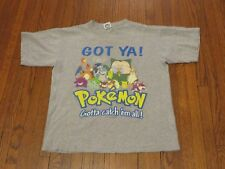 Men's VTG 2000 Nintendo Pokemon Got Ya Gotta Catch 'Em All Grey T-Shirt sz S