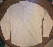 Pierre Balmain Tan Dress Shirt Button Down Khaki Designer LS Men's Size 17 36/37