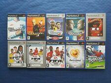 Sony PlayStation 2 PS2 Lot de 10 jeux foot divers, complets