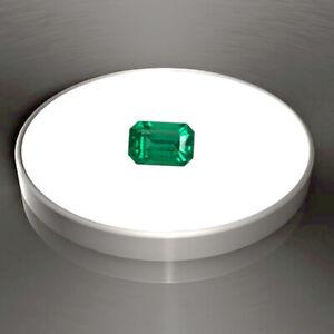 0.83 ct Zambia Natural Emerald Cut ~ 7 x 5 mm Loose Gemstone  703_VIDEO
