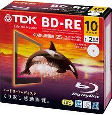 TDK Blu-ray BD-RE Rewritable Disk 25GB 2 X Speed 10 Pack