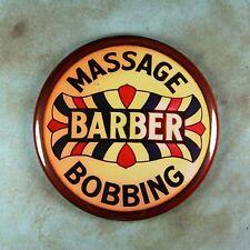 """Vintage Neon Advertising Sign Photo Fridge Magnet 2 1/4"""" Barber Shop Bobbing"""