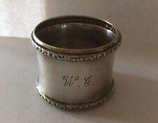 Elegant Sterling Silver Napkin Ring Serviette Holder Monogrammed W C
