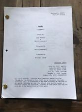 "Angel Tv show script ""Judgement"" Joss Whedon"