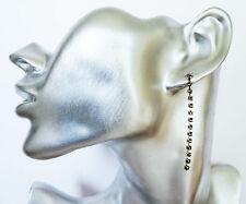 5 cm Delicate Diamante Crystal Dangle Drop Earrings in silver Tone