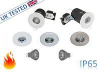 IP65 Fire Rated GU10 Bathroom Shower Down Light Downlight Recessed Spotlight