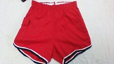 Vintage 70s russell athletic 65poly 35 cotton gym shorts made in the usa striped
