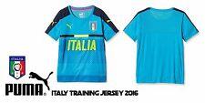 PUMA FIGC Italy Italia Training Jersey 2016 Atomic BlueShirt Men's Large (L) NWT