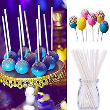 50pcs 13.5CM Pop Plastic Lollipop Sticks Candy Cake Chocholate Sugar Paste Tool