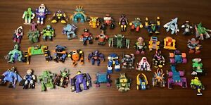 Vintage Galoob ZBots Figure Lot Of 45 Z-Bot, Voids, Combots Micro Machines LGTI