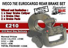 Iveco Eurocargo 75E BREMBO REAR Brake Caliper Disc and Pad Set 42534121 42534122