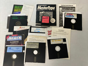 Commodore 64 Computer Video Game Lot set of 8 Games