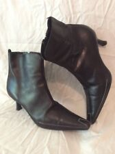 Donald J Pliner By Russell&Bromley Brown Ankle Leather Boots Size 6.5Uk