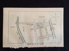 1896 color map Pennsylvania Frontier Fort Allen Lehigh Carbon County Weissport