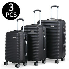 20' 24' 28' Travel luggage Bag Set of 3 Trolley Hard Shell Suitcase W/Coded Lock