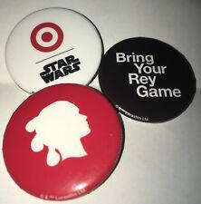 Star Wars Last Jedi Target Rare 3 Button Set Bring Your Rey Game
