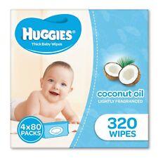 Huggies Coconut Baby Wipes Bundle Pack of 320 (4 x 80 Pack)