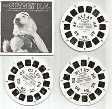 VIEWMASTER ☆ Walt Disney 1976 ☆ The SHAGGY DA B368 ☆ 3 Reel Set + Booklet