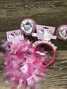 Hello Kitty Head Bopper & Hello Kitty Boa Dress Up Costume / Both New