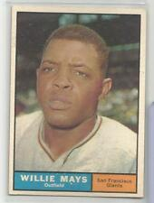 1961 Topps Baseball Willie Mays Card # 150 Excellent Condition