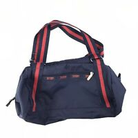 Vintage 90's LeSport Sac Blue And Red Carryall Overnight Bag Travel