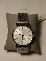 Seiko Premier SRK033P1 Men's Dress Watch White Dial Small Seconds Roman Numerals
