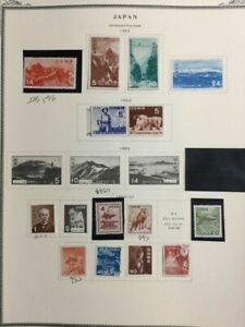 TCStamps --16x -- Pages BEAUTIFUL! OLD Japan Postage Stamps +Sheets #098