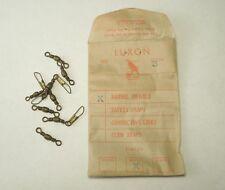 Luxon Fish Hawk 8 Brass Barrel Swivels Vintage Fishing W/ Envelope