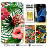 Galaxy Note 8 S9 Case Tropical Pattern Print Wallet Leather Cover for Samsung